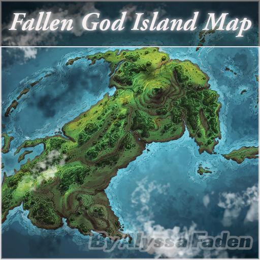 The Fallen God Island Map