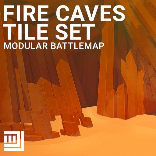 Fire Caves Tile Set