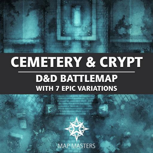 Cemetery & Crypt Battlemap