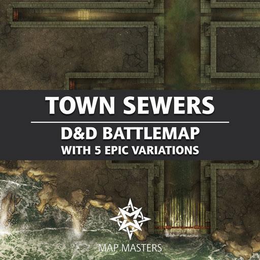 Town Sewers Battlemap