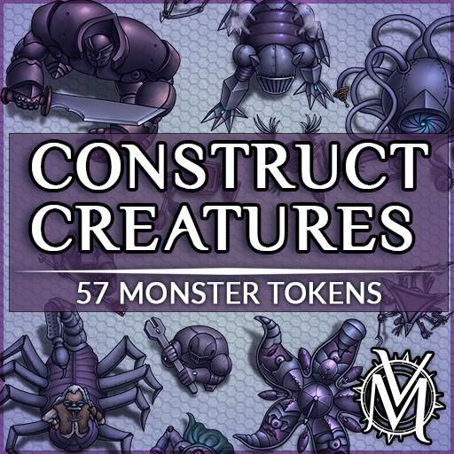 Construct Creatures Token Set