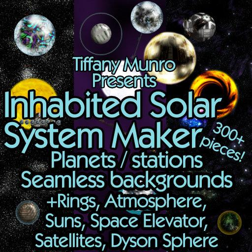 Inhabited Solar System Maker with Technology, Celestial Objects, Starfields