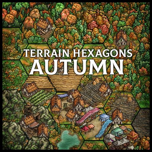 Terrain Hexagons: Autumn