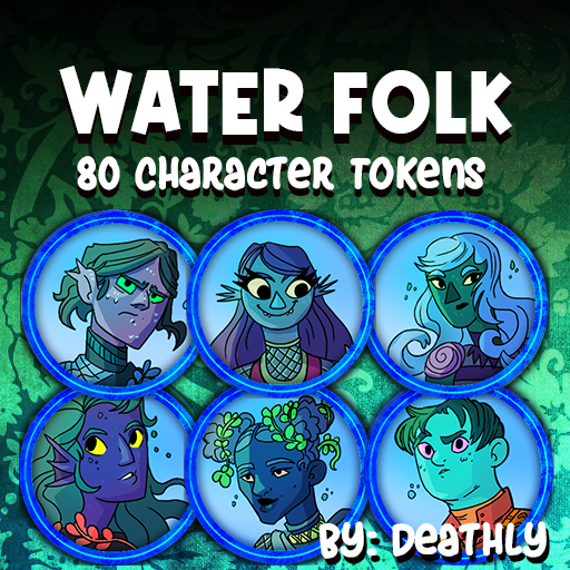 Water Folk Tokens