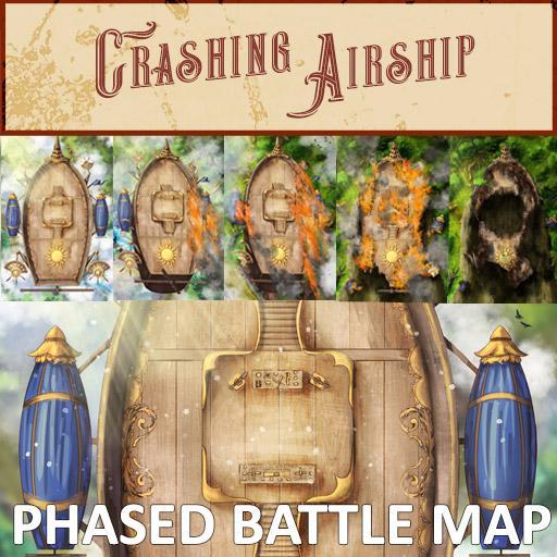 Crashing Airship Phased Battle Map