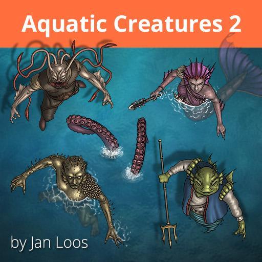 Jans Token Pack 32 - Aquatic Creatures 2