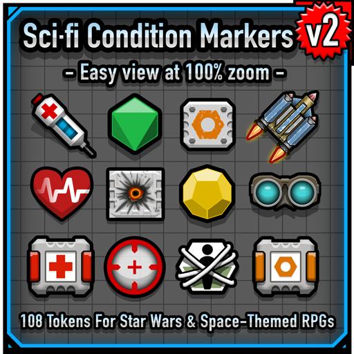 Sci-fi Condition Markers v2