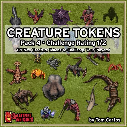 Creature Tokens Pack 4 - CR 1/2