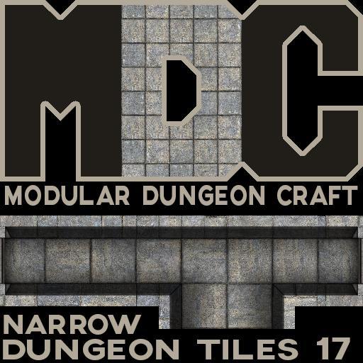 Modular Dungeon Craft, Narrow Dungeon Tiles 17