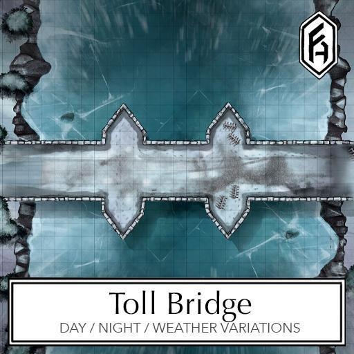 Toll Bridge Battlemap