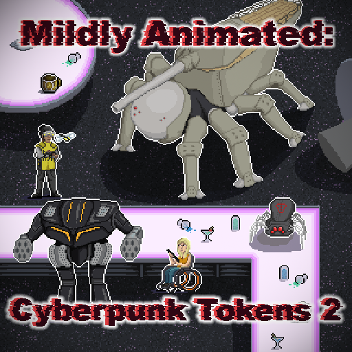Mildly Animated - Cyberpunk Tokens 2