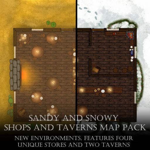 Sandy and Snowy Shops and Taverns Map Pack