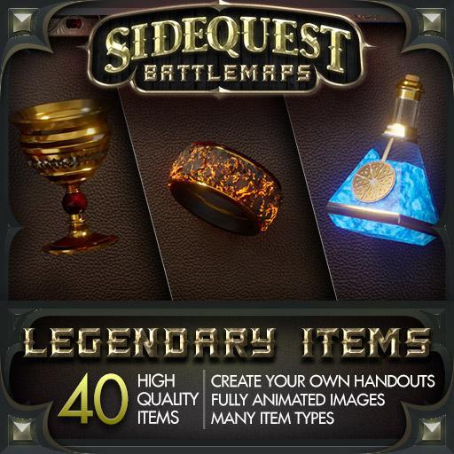 Sidequest Battlemaps: Legendary Items