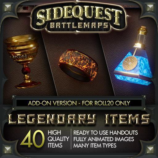 Sidequest Battlemaps: Legendary Items - Add-On Version