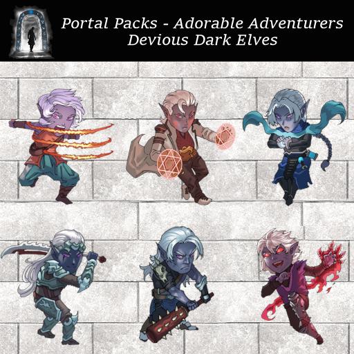 Portal Packs - Adorable Adventurers - Devious Dark Elves