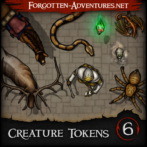 Creature Tokens - Pack 6