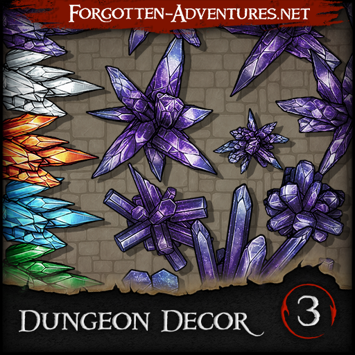 Dungeon Decor - Pack 3 - Crystals