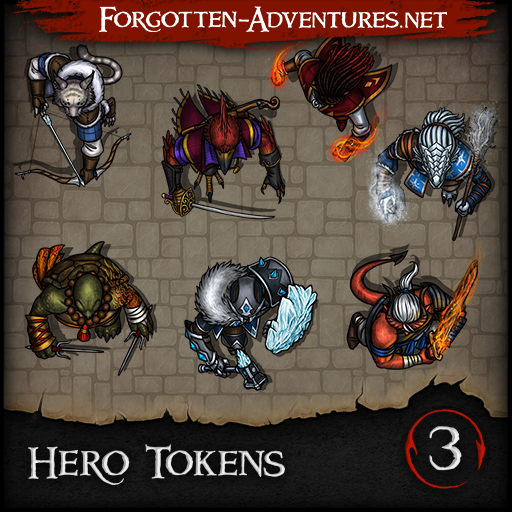 Hero Tokens - Pack 3