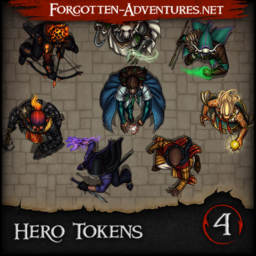Hero Tokens - Pack 4