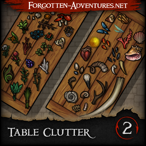 Table Clutter - Pack 2 - Spell & Alchemy Components
