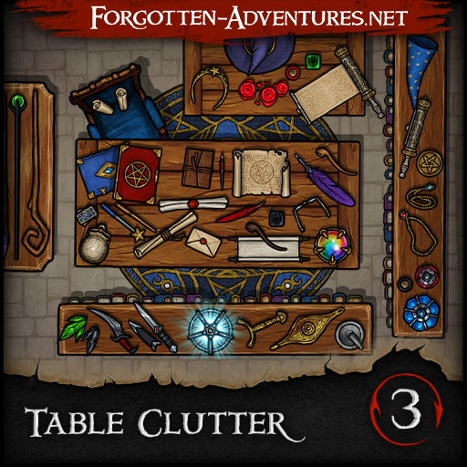 Table Clutter - Pack 3 - Magic & Arcana