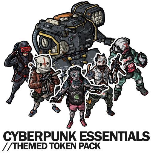 Cyberpunk Essentials - Themed Token Pack