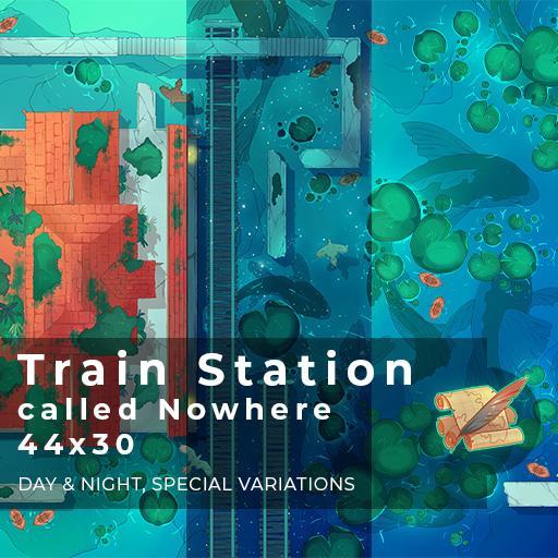 Train Station Battlemap