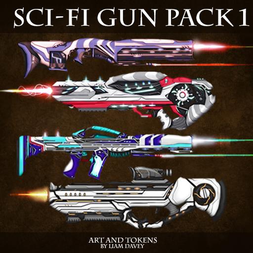 Sci-Fi Gun Pack 1