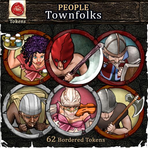 People - Townfolks - Bordered Tokens