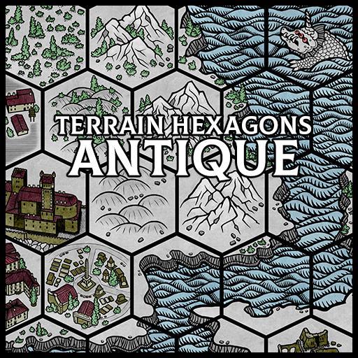 Terrain Hexagons: Antique