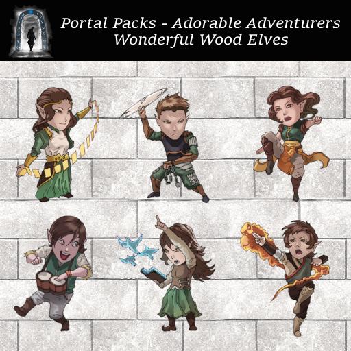 Portal Packs - Adorable Adventurers - Wonderful Wood Elves