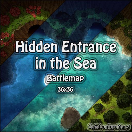 Hidden Entrance in the Sea