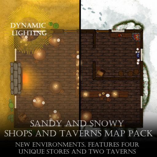 Sandy and Snowy Shops and Taverns Map Pack - Dynamic Lighting