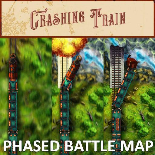 Crashing Train Phased Battle Map