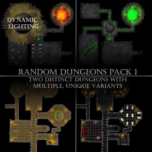Random Dungeons Pack 1 - Dynamic Lighting