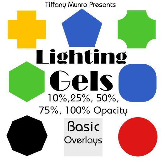 Lighting Gels: Simple Overlays in 100%, 75%, 50%, 25%, 10% Opacity