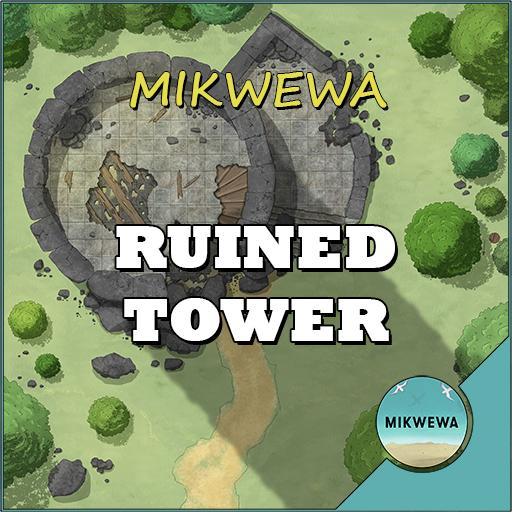 Ruined Tower Battlemaps