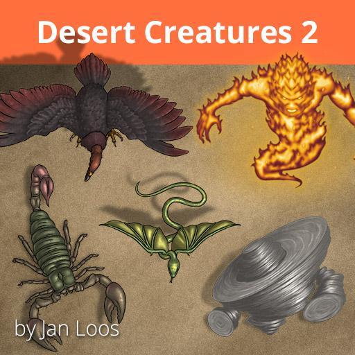 Jans Token Pack 33 - Desert Creatures 2