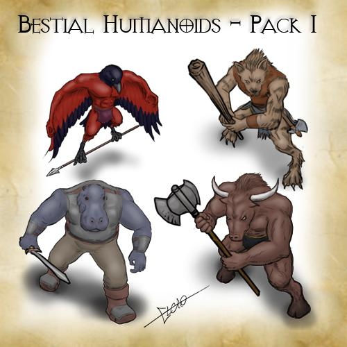 Bestial Humanoids - Pack 1