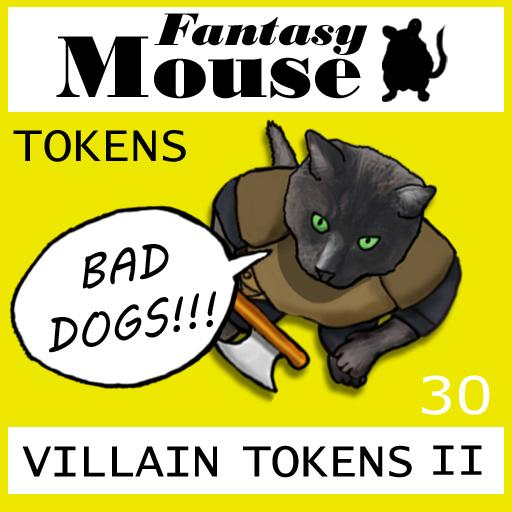 Fantasy Mouse Villain Tokens II