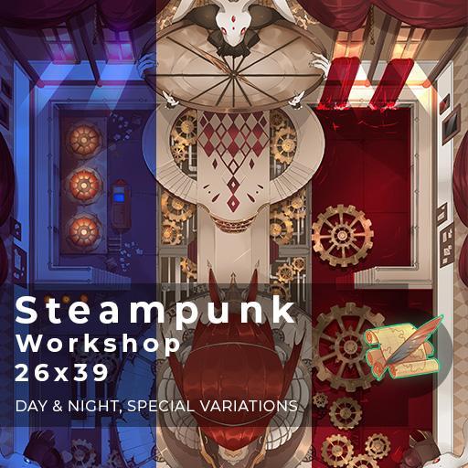 Steampunk Workshop Battlemap