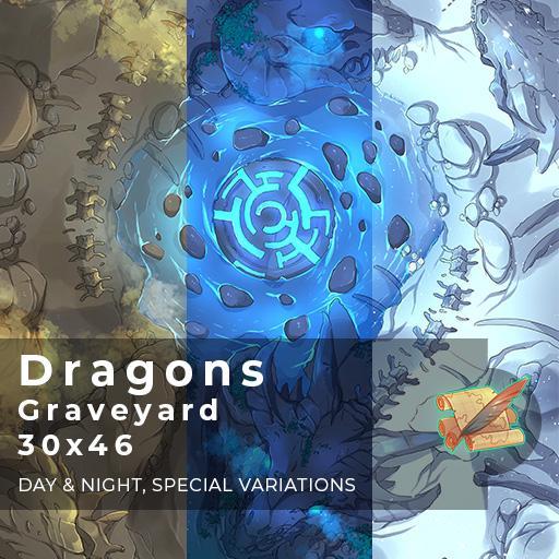 Dragons' Graveyard Battlemap