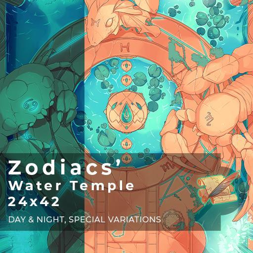 Zodiacs' Water Temple Battlemap