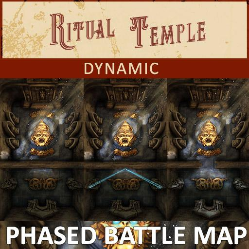 Dynamic | Ritual Temple Phased Battle Map