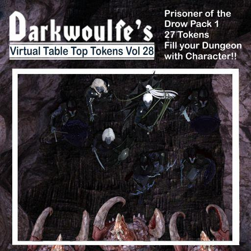 Darkwoulfe's Token Pack Vol28 - Prisoner of the Drow 1