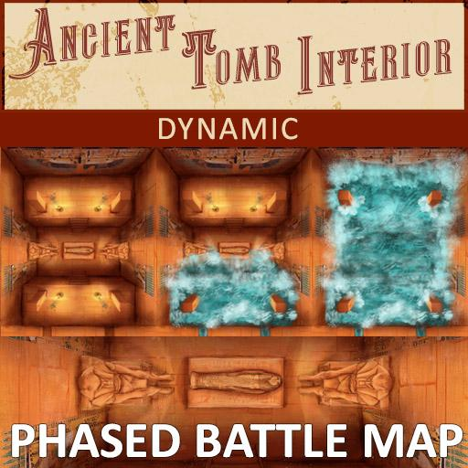 Ancient Tomb Interior Phased Battle Map | Dynamic