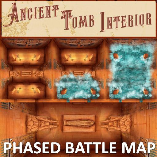 Ancient Tomb Interior Phased Battle Map