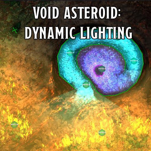 Void Asteroid: Dynamic Lighting