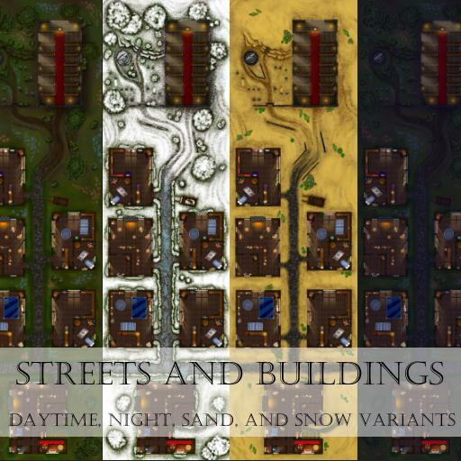 Streets and Buildings Map Pack