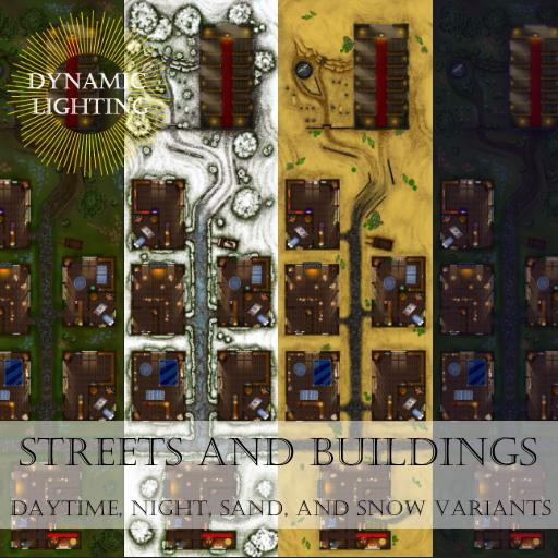 Streets and Buildings Map Pack - Dynamic Lighting